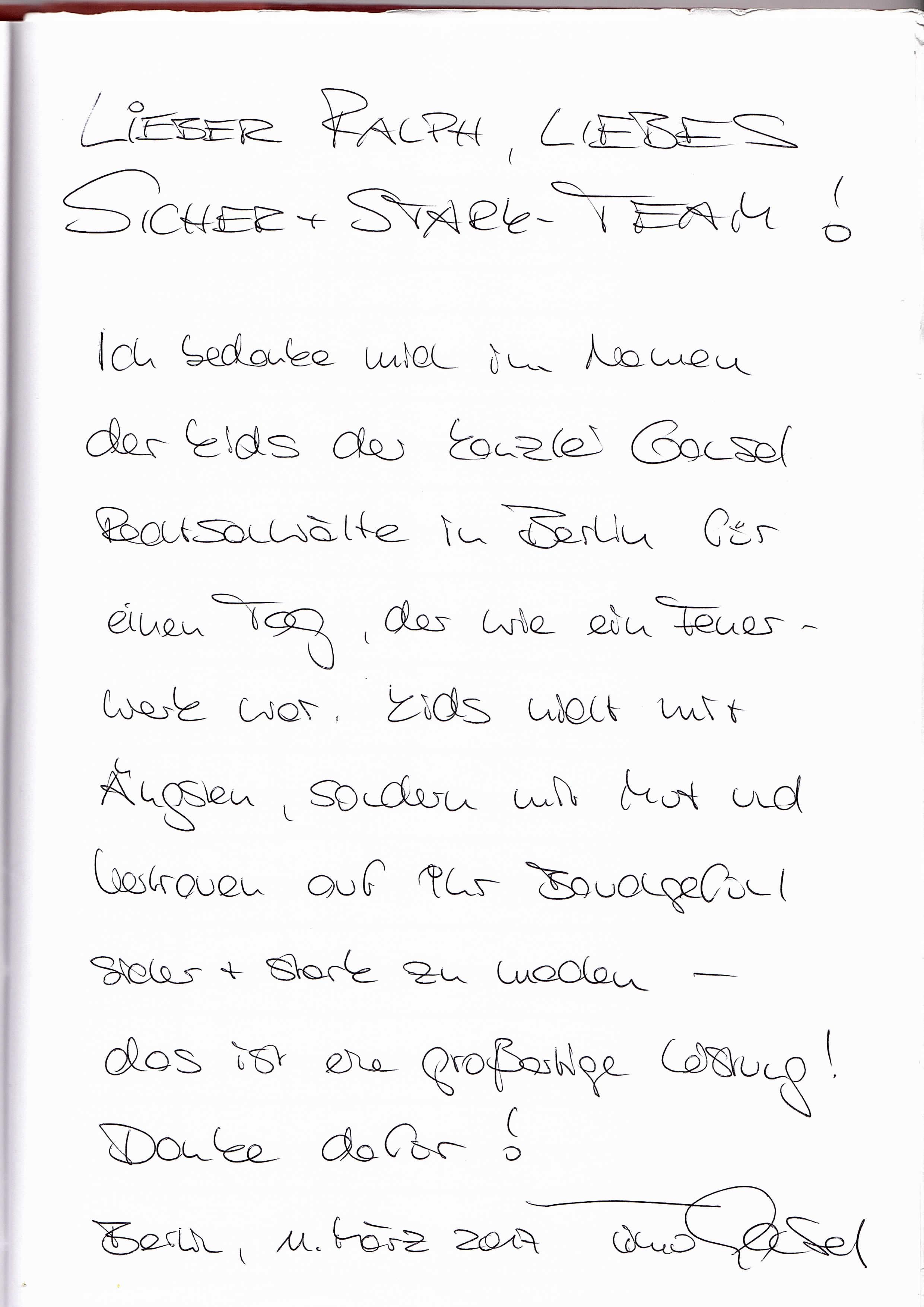 An dankeschön lehrerin brief Brief an
